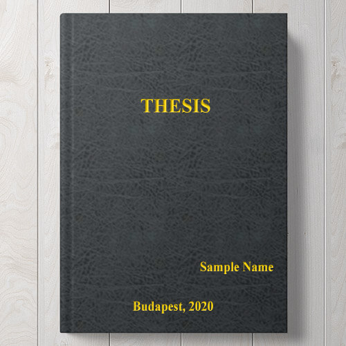 Thesis Binding, Cover Sample II. | Copy Store English